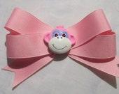 Pink Monkey Bow