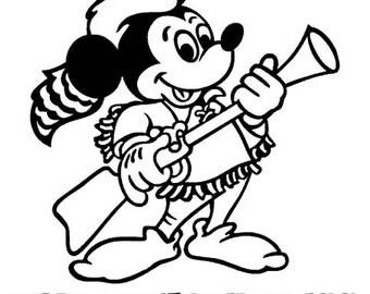 Fort Wilderness - Musket Mickey vinyl decal