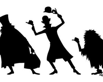 The Haunted Mansion - vinyl decals, Hitchhiking Ghosts silhouettes