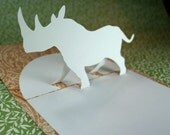Pop-Up Rhino Card