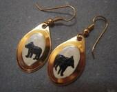 Vintage Painted Bear earrings