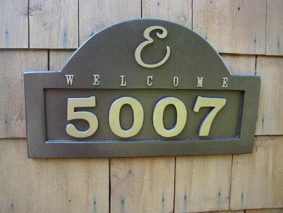 Monogram Address Plaque House Numbers Customized