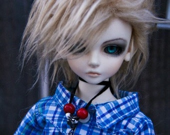 Akasarushi Metallic Blonde Color Fur Wig Made for abjd doll size SD MSD tiny yosd and puki