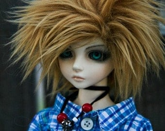 Akasarushi CARAMEL Color Fur Wig Made for abjd doll size SD MSD tiny yosd and puki