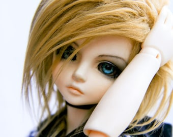 Akasarushi CARAMEL(long) Color Fur Wig Made for abjd doll size SD MSD tiny yosd and puki