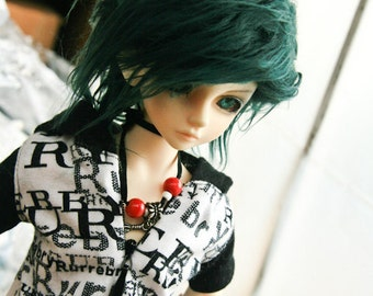 Akasarushi Forest GREEN Color Fur Wig Made for abjd doll size SD MSD tiny yosd and puki