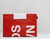 Recycled Billboard Banner MacBook / MacBook Pro Sleeve 13 inch No. 43 - Eco-Friendly - free shipping for 2nd item