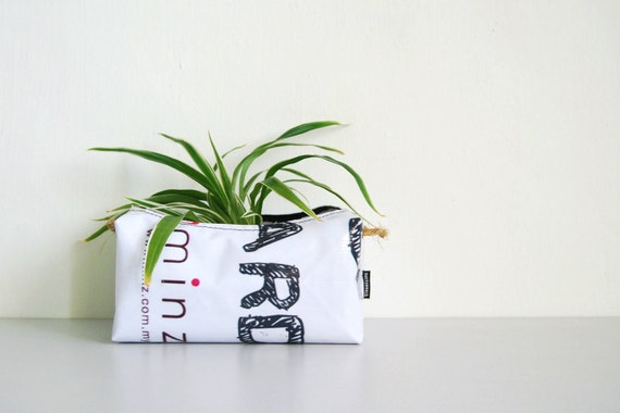 Planter (Medium) No. 12 - Recycled Billboard Banner - Eco-Friendly