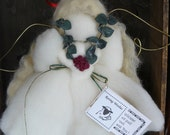 Roving Angel tree topper Any holiday White angel blonde Hair sheep roving large roving woolies