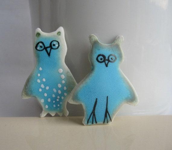 Little Owl - Porcelain Brooch