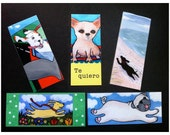 Set of 5 doggie bookmarks