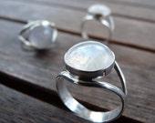 Bella Moonstone Sterling Silver Ring