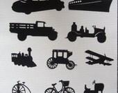 Vintage Vehicles Die-cut Pack for Scrapbooking 16