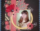 Custom 12x12 pre-made double page Scrapbook Layout