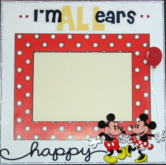 Clearance Premade 8x8  album with 20 decorated Disney  pages. Was 165.99