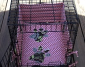Pets Wire Crate Bed and Bumper Set Amy Butler Lotus