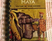 World of the Maya Vintage Recycled Travel Journal