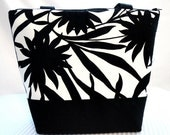 Large Insulated Lunch Bag - Black & White