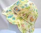 Baby / Toddler Sweetheart Sun Hat - Yellow Floral, Swirl Print