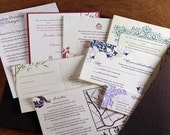 Letterpress and Digital Wedding Invitation Samples