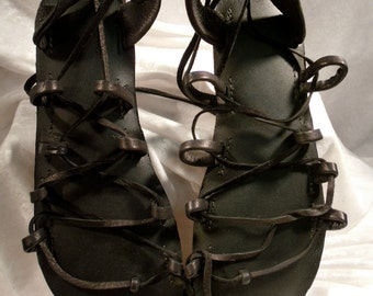 THE ATHENA Design with Oasis Dance Sandal Sole Your choice of Natural Leather color