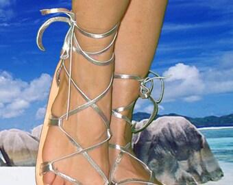 OASIS Dance Sandals,  SILVER Metallic