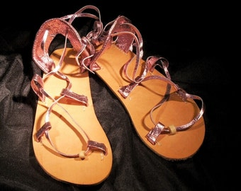 OASIS Dance Sandals,  Fuchsia, Violet,  or Light  Pink Metallic