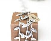 Silver Leaf Ribbon/Garland