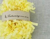 4 Yds of Yellow Tissue Fringe Garland