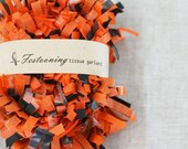 Wholesale 8 yard roll of Orange and Black Garland Fringe Trim