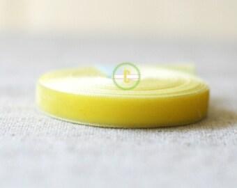 Yellow Velvet Ribbon