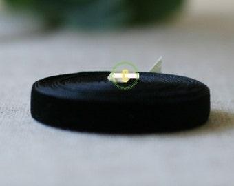 10 yd roll of Black Velvet Ribbon