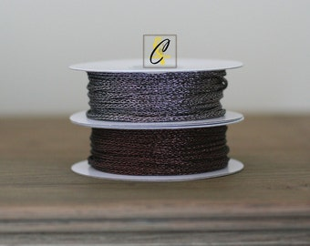 Deep Discount Clearance! 30 Yard Roll of Brown Metallic braided trim cord braid
