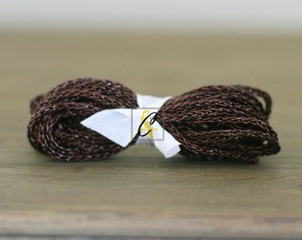 Clearance! Chocolate Metallic braided trim 4 yards