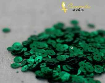 5mm Kelly Green Sequins