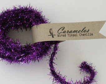 Deep Discount Clearance! Grape Wired Tinsel