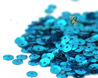 5mm Turquoise Sequins