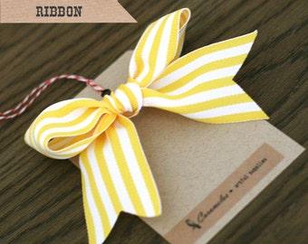 Wide Yellow Candy Stripe Ribbon