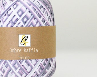 Clearance Iris Ombre raffia twine ribbon 100 yards
