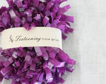 4 Yds of Grape Tissue Garland