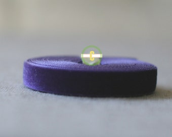 10 yd roll of Plum Velvet Ribbon