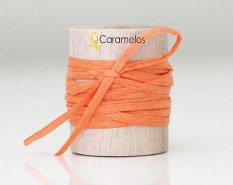 Wholesale Orange paper raffia ribbon 100 yards