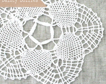Clearance! 6 White Crochet Cotton Doilies