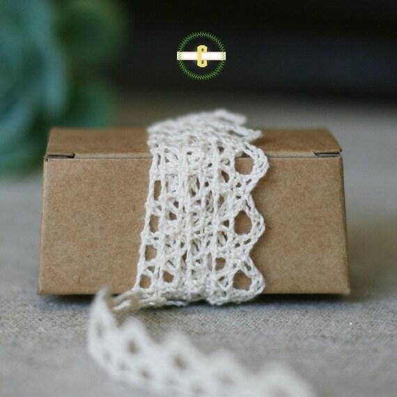 Ivory crochet ribbon 3 yards