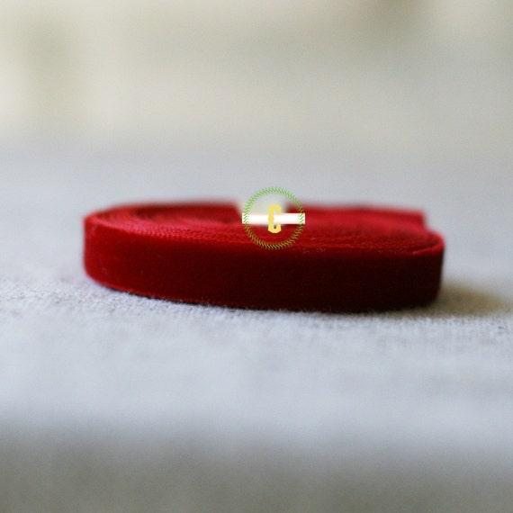 10 yd roll of red Velvet Ribbon