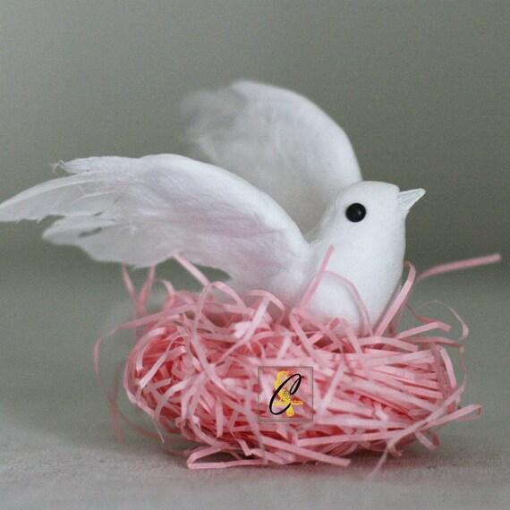 Bulk 6 White flying doves