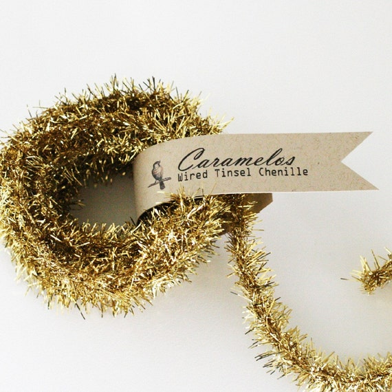 Gold Wired Tinsel
