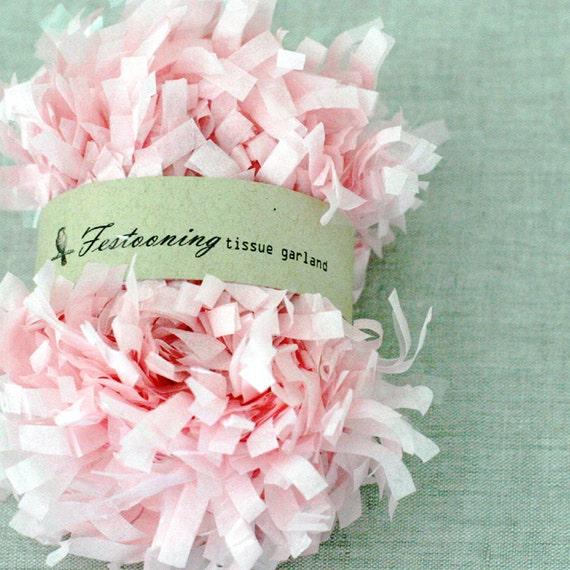 Bulk 8 yard roll of Pink Garland Fringe Trim