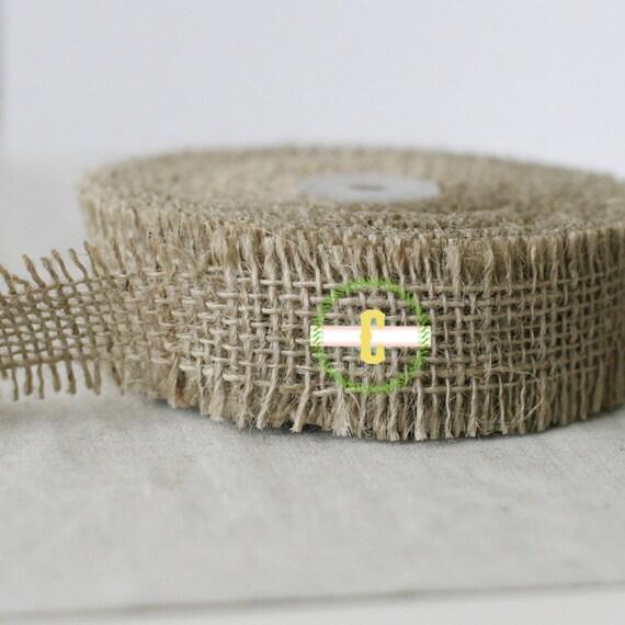 Wholesale 10  yard roll of Natural Jute Ribbon