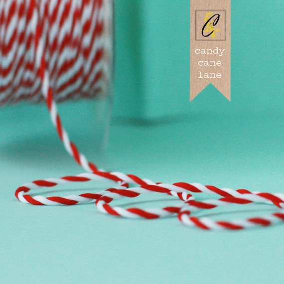Candy Cane red and white twisted ribbon